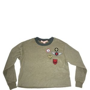 Rebellious One Juniors Military Patches Reverse M